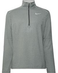 Nike Element 3.0 Loopback Dri-fit Half-zip Top - Grey