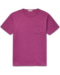 Alex Mill - Mélange Slub Cotton-jersey T-shirt - Lyst