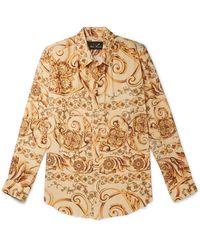 Martine Rose - Oversized Printed Plissé-crepe Shirt - Lyst