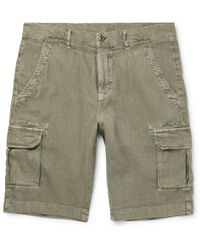 Loro Piana | Stretch-linen And Cotton-blend Cargo Shorts | Lyst