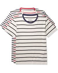 Maison Margiela - Three-pack Striped Cotton-jersey T-shirts - Lyst
