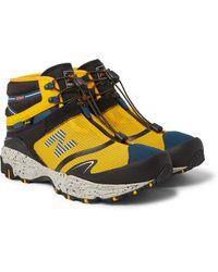 New Balance Snow Peak Tokyo Design Studio Nobium Suede And Rubber-trimmed Mesh 3-in-1 Boots - Yellow