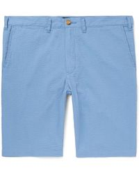Beams Plus - Ivy Slim-fit Cotton-seersucker Shorts - Lyst