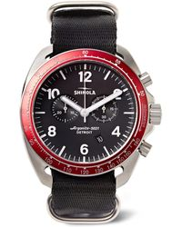 Shinola - The Rambler Tachymeter Chronograph 44mm Stainless Steel And Webbing Watch - Lyst
