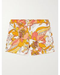 Tom Ford Mid-length Floral-print Swim Shorts - Orange