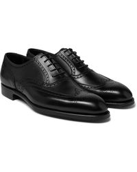 George Cleverley Reuben Leather Brogues - Black