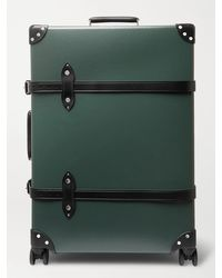 """Globe-Trotter No Time To Die 20 Leather-trimmed Carry-on Suitcase"""" - Green"""