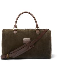 Andersons - Small Suede And Full-grain Leather Holdall - Lyst