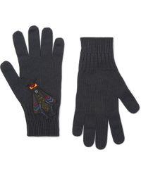 Fendi - Bag Bugs Appliquéd Wool Gloves - Lyst
