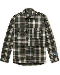 Reese Cooper Logo-appliquéd Checked Cotton-flannel Shirt - Green