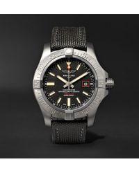 Breitling - Avenger Blackbird Automatic 44mm Titanium And Canvas Watch - Lyst
