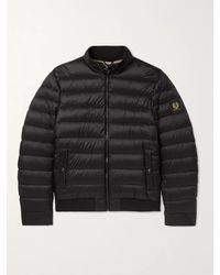 Belstaff Circuit Logo-appliquéd Quilted Shell Down Jacket - Black