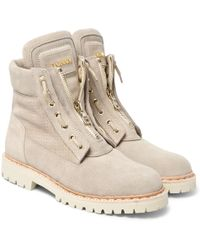 Balmain Suede Desert Boots - Natural