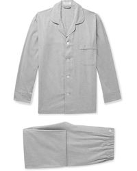Emma Willis Mélange Cotton Pyjama Set - Grey