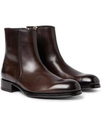 Tom Ford | Edgar Burnished-leather Boots | Lyst