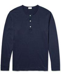 Handvaerk - Pima Cotton-jersey Henley Pyjama Top - Lyst