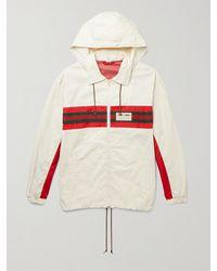 Gucci Grg Stripe & Nautical Logo Zip Windbreaker - White