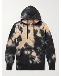 The Real McCoys Tie-dyed Cotton-jersey Hoodie - Black