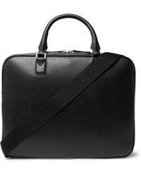 Montblanc Sartorial Cross-grain Leather Briefcase