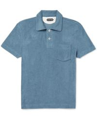 Tom Ford - Slim-fit Cotton-terry Polo Shirt - Lyst