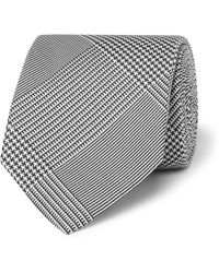 Drake's - 8cm Prince Of Wales Checked Silk-jacquard Tie - Lyst