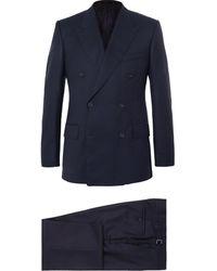 Kingsman - Navy Harry Slim-fit Super 120s Wool And Cashmere-blend Suit - Lyst