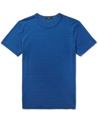 Theory - Gaskell Striped Cotton-blend Jersey T-shirt - Lyst
