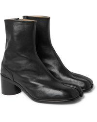 Maison Margiela Tabi Split-toe Leather Boots - Black