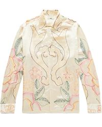 Bode Embroidered Satin-twill Shirt - Multicolour