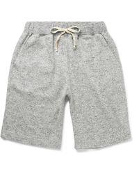 Nigel Cabourn Mélange Cotton Drawstring Shorts - Grey