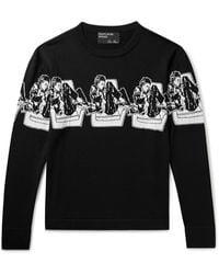 Enfants Riches Deprimes Intarsia Wool Sweater - Black