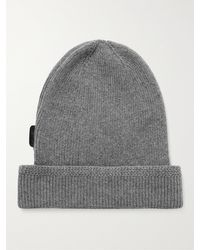 Tom Ford Ribbed Cashmere Beanie - Grey