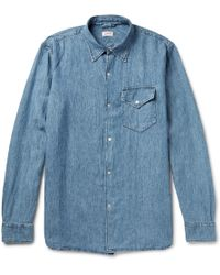 Arpenteur - Washed Linen And Cotton-blend Chambray Shirt - Lyst
