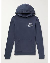 Pasadena Leisure Club Scenic Route Printed Cotton-jersey Hoodie - Blue