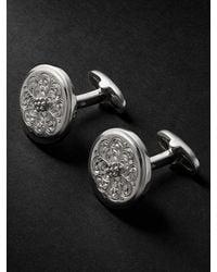 Buccellati Ornatino Sterling Silver And Gold Cufflinks - Metallic