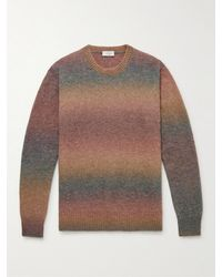 Altea Slim-fit Degradé Knitted Jumper - Brown