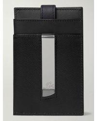 WANT Les Essentiels Pebble-grain Leather Cardholder With Money Clip - Black