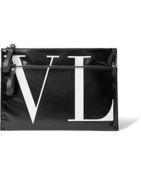 Valentino - Garavani Logo-print Vinyl Pouch - Lyst