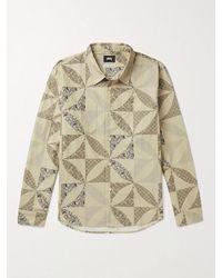 Stussy Printed Cotton-flannel Shirt - Multicolour