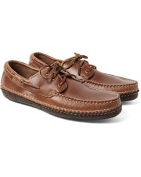 Quoddy - Moc Ii Leather Boat Shoes - Lyst