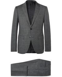 Ermenegildo Zegna Dark-grey Slim-fit Wool Suit - Gray