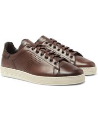 Tom Ford Perforated T Trainers - Brown