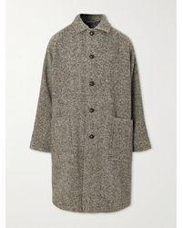 Acne Studios Herringbone Wool-blend Coat - Black