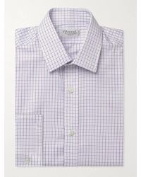Charvet Slim-fit Checked Cotton-poplin Shirt - Multicolour