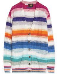 Loewe Paula's Ibiza Striped Cotton Cardigan - Blue
