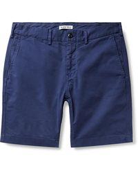 Alex Mill Slim-fit Stretch-cotton Twill Chino Shorts - Blue