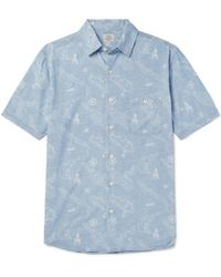 Faherty Brand - Printed Cotton Shirt - Lyst