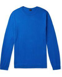 Mp Massimo Piombo Slim-fit Cotton Sweater - Blue