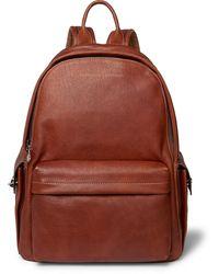 Brunello Cucinelli Full-grain Leather Backpack - Brown