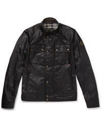 Belstaff Racemaster Slim-fit Waxed-cotton Jacket - Black